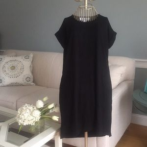 Workshop Republic Clothing black high-low dress